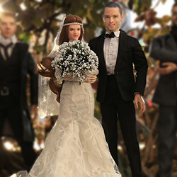 Action-Me 3d printed bride and groom wedding Action-Me 3d printed bride and groom wedding
