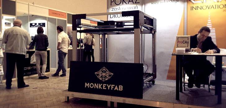 Monkeyfab KILO 3D printer with 1 cubic meter work area