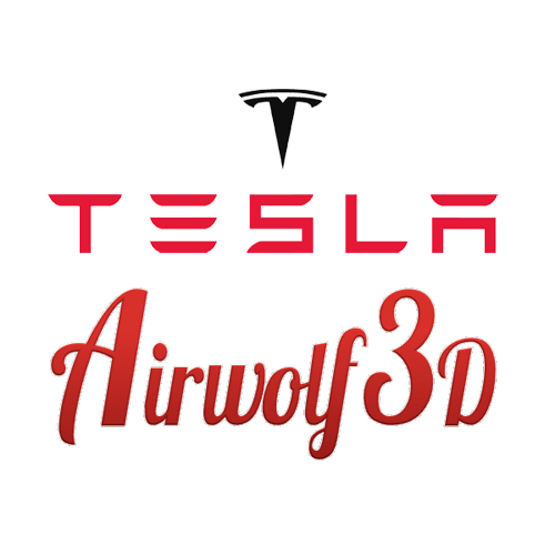 airwolf 3D printing appears with tesla motors at OC event