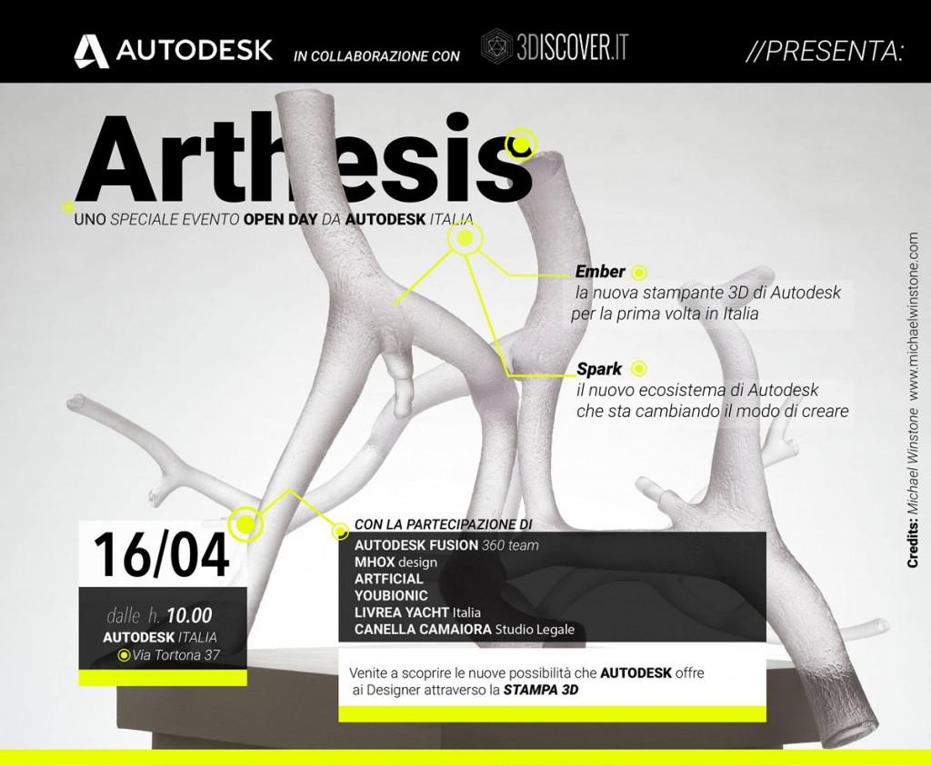 arthesis 3D printing event at milan design week 2015