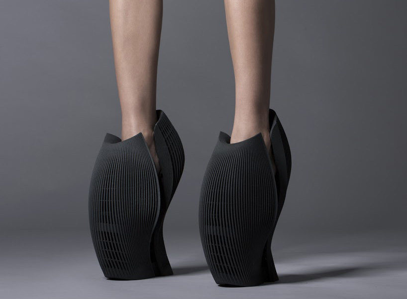 ben van berkel unx2 3D printed shoes by united nude and 3D systems at milan design week 2015