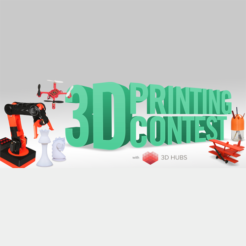 instructables 3D hubs 3D printing contest