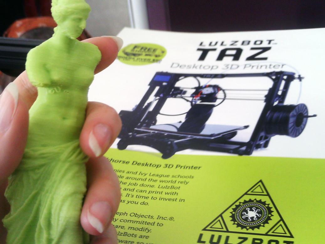 lulzbot mini 3D printed venus de milo at sxsw