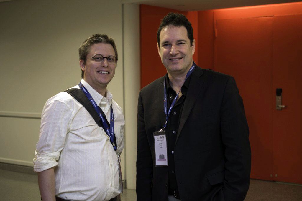 michael molitch-hou with hod lipson at 3D print week