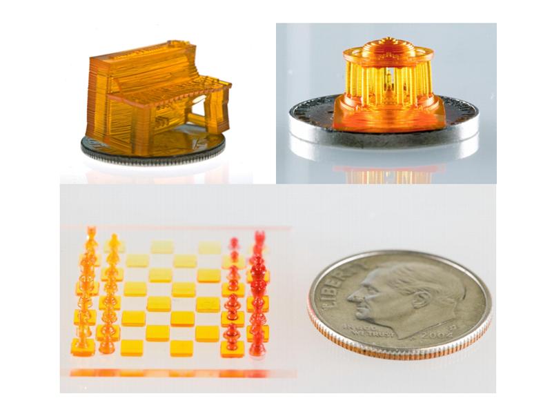micro 3D printed SLA models