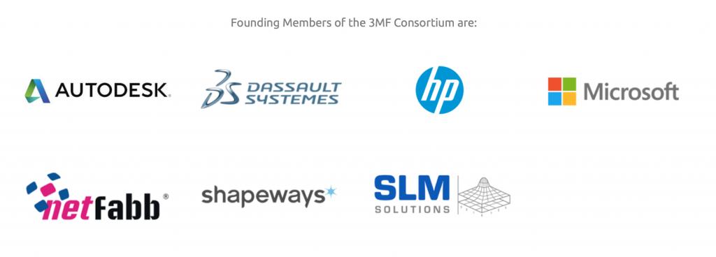 partners 3mf consortium 3D printing