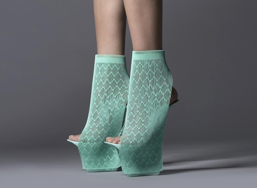 ross lovegrove ilabo 3D printed shoes by united nude and 3D systems at milan design week 2015