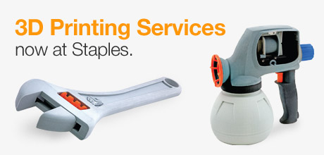 staples 3D printing services