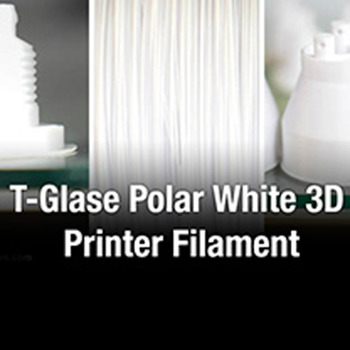 t-glase polar white 3D printing filament from taulman3D and foodrising