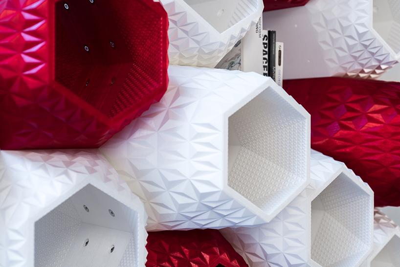texture supermod 3d printed shelving