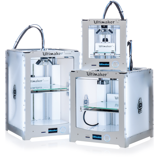 ultimaker 2 extended and go 3D printers