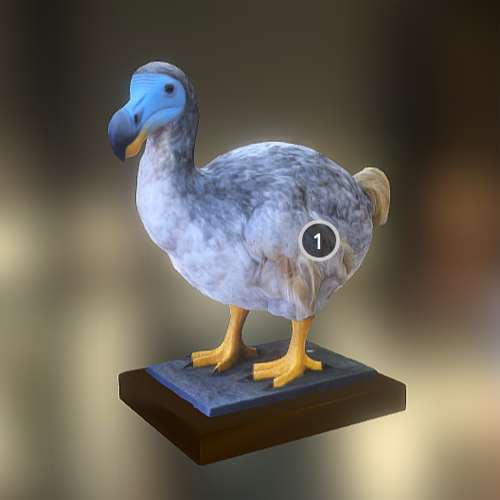 3D printable dodo bird from horniman museum