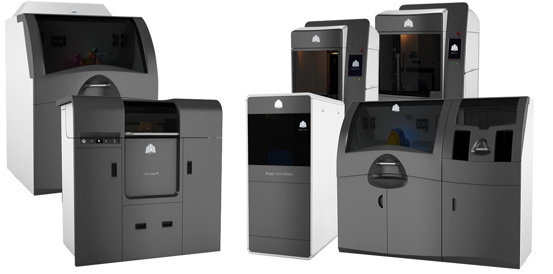 3d systems 3D printer portfoio