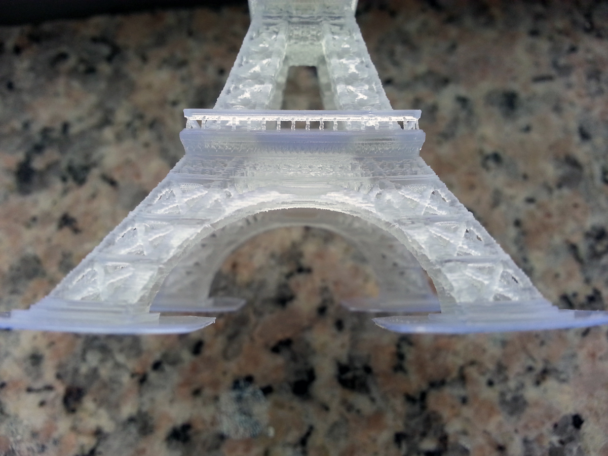 An Eiffel Tower printed at .1 mm (100 microns)