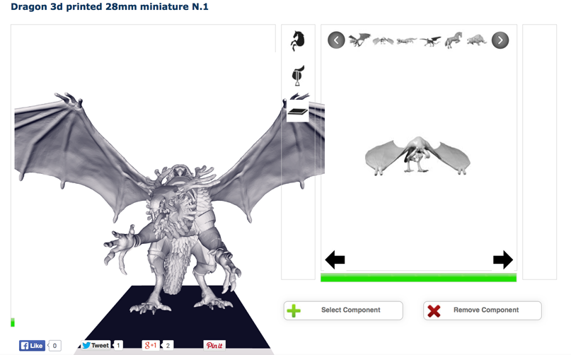 iamgine mounted heroes 3D printed dragon