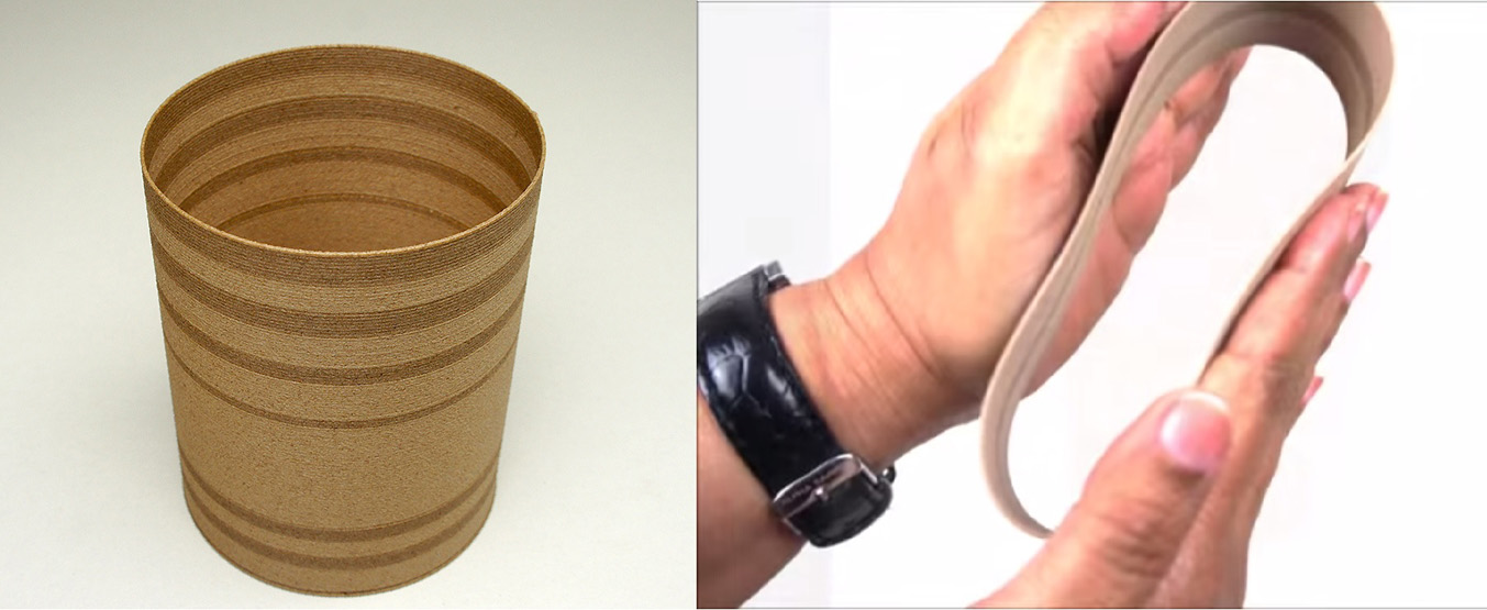 laywood flex 3D printing filament  bendable layers