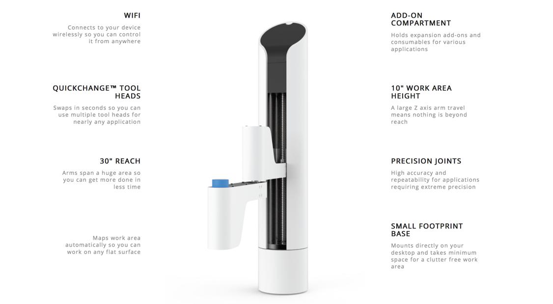 makerarm 3D printing hybrid arm