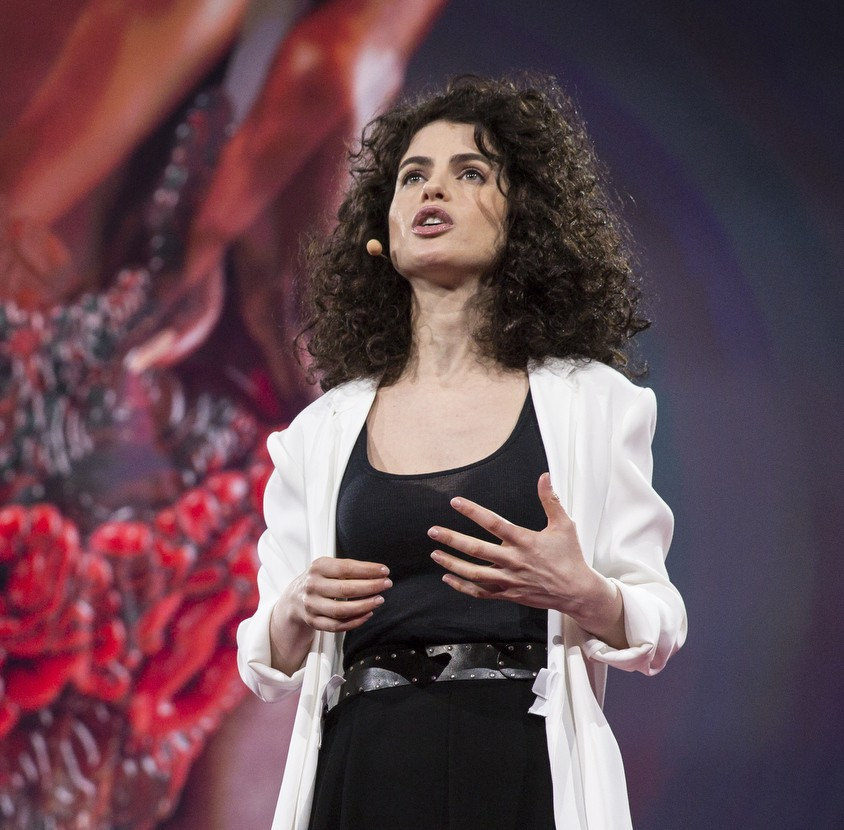 Neri Oxman speaks at TED2015 - Truth and Dare, Session 10, March 16-20, 2015, Vancouver Convention Center, Vancouver, Canada. Photo: Bret Hartman/TED