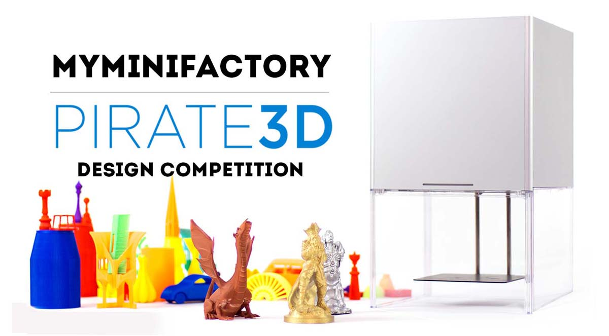 myminifactory pirate3D 3D printing contest
