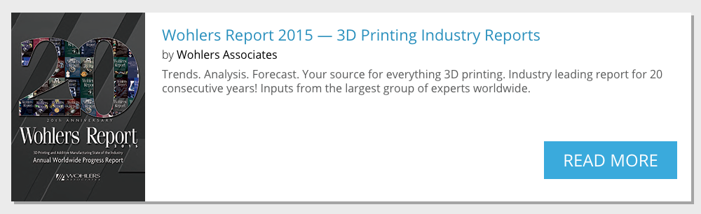 wohlers report 20th anniversary on sale at 3D printing industry