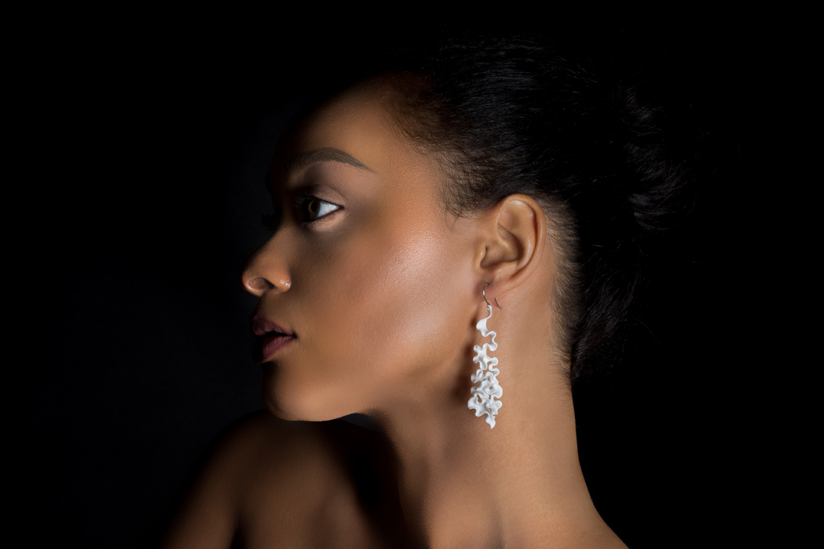 3D printed cassiopea Earrings from nervous system