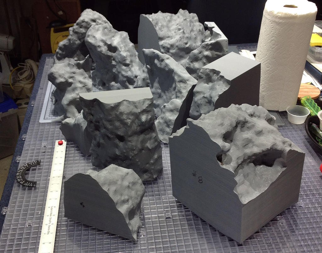 8-of-11 3D printed mars rock parts_ready-to-bond-br2