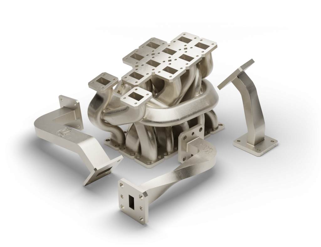 A 3D printed RF harness. Photo via SWISSto12.