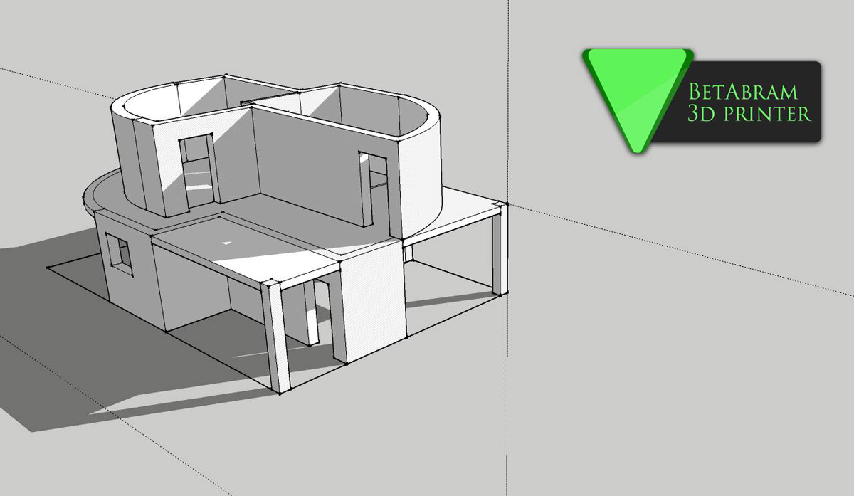 Betabram set to 3d print two story house this summer 3d Building plan printing