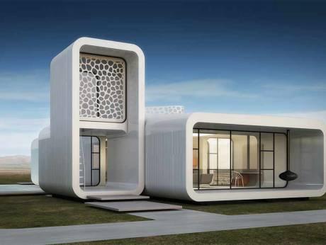 dubai 3D printed office building