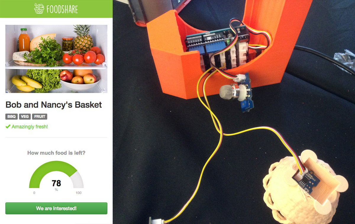 foodshare 3D printed food basket ge first build makerbot copy