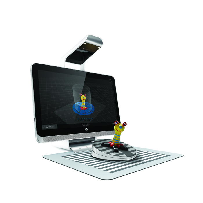 hp sprout 3D scanning 3D capture stage for 3D printing
