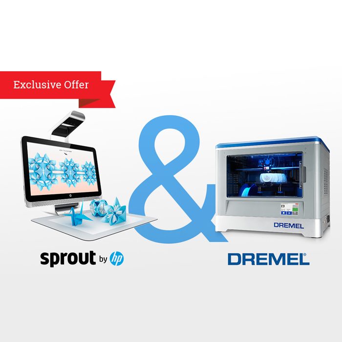 hp sprout and dremel 3D idea builder sold through the Maker Shed