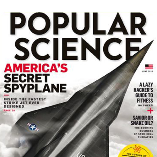 popular science 3D printed spyplane by don foley