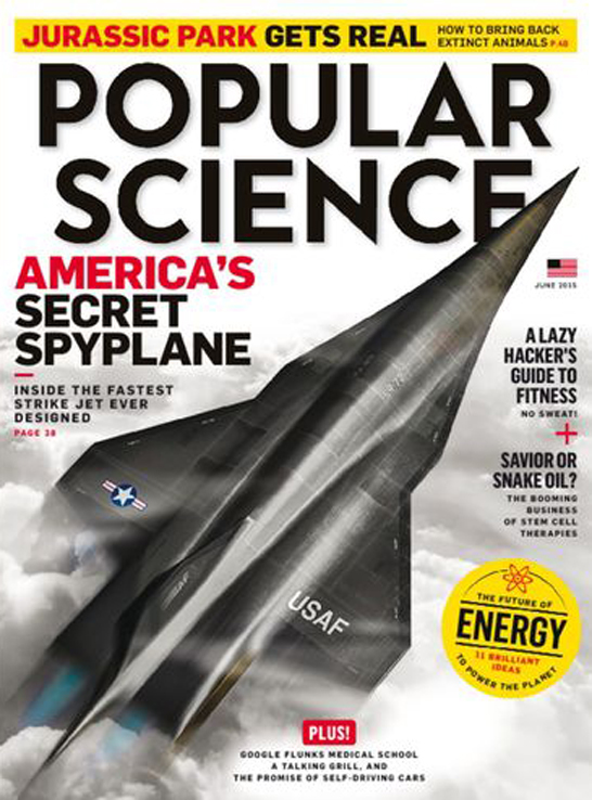popular science june 2015 3D printed spyplane by don foley