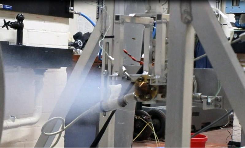 testing of 3D printed ceramic thruster at university of Southampton