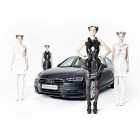 Anouk Wipprecth's 3D Printed Dresses for Audi Feature Smoke, Lights, & Spiders
