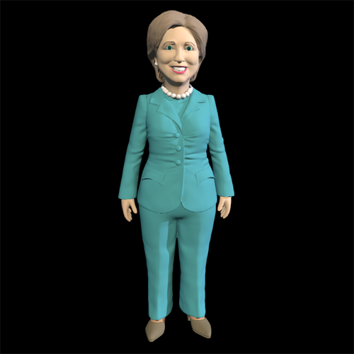 3D printable hillary clinton