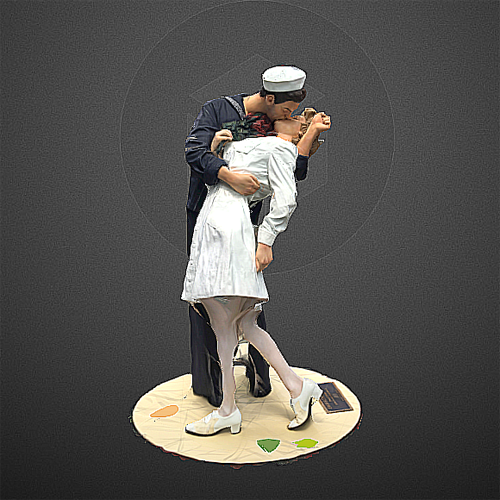 3D printable unconditional surrender by seward johnson
