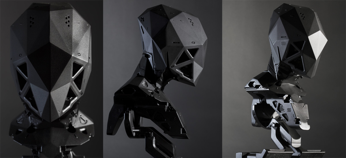 3D printed black phoenix project stiffneck ultraborg by Vitaly Bulgarov made by Factor 31 copy
