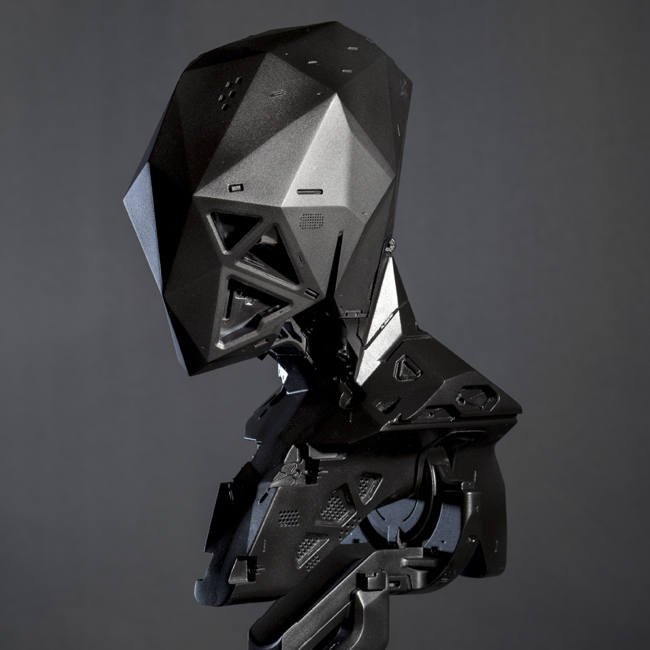 3D printed by Factor 31 black phoenix project stiffneck ultraborg by Vitaly Bulgarov