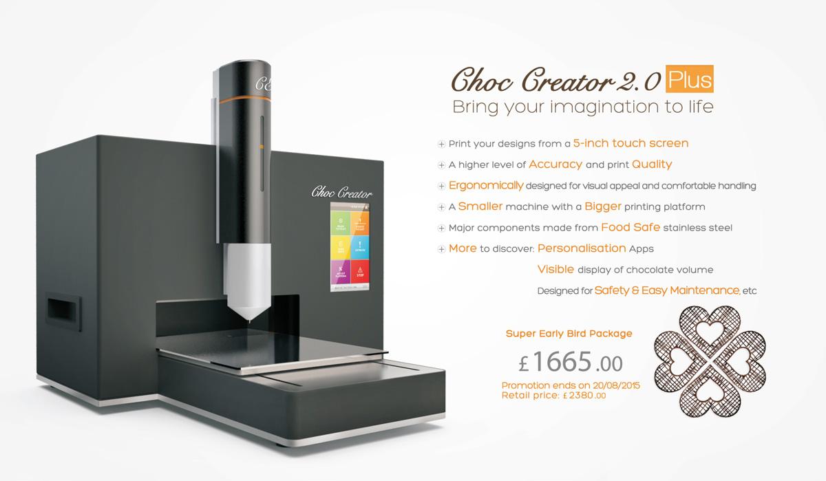 Choc Creator 2.0 Plus Chocolate Printer