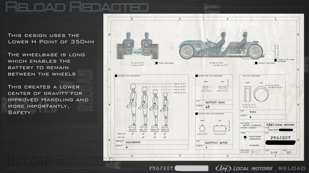 Reload Redacted 3D printed car blueprints from Local Motors