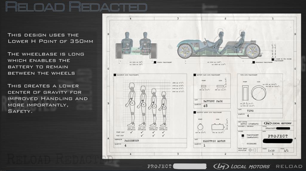 Reload Redacted 3D printed car blueprints from Local Motors