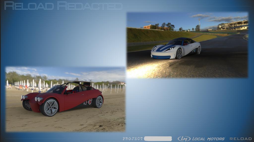 Reload Redacted 3D printed car design from Local Motors sport and sea