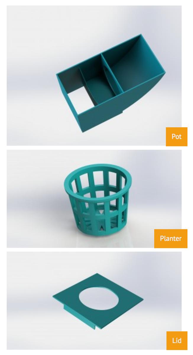 3D printable hydroponics kit