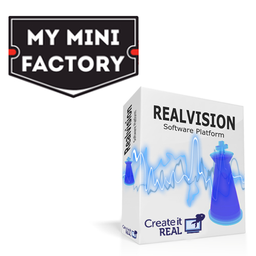 create it real realvision 3D printing myminifactory