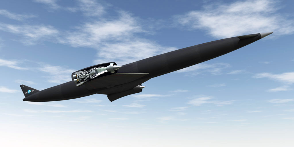 skylon spaceplane with 3D printed thruster in sabre engine