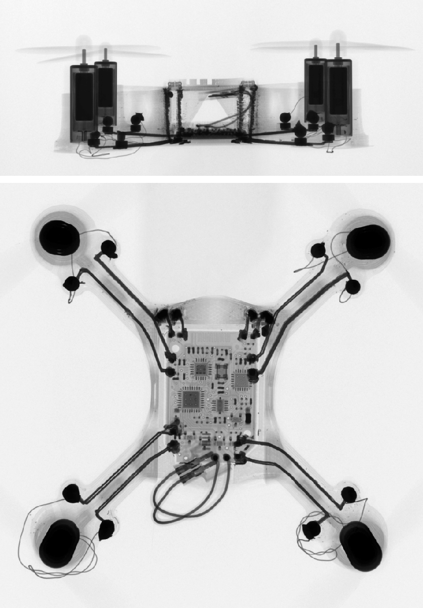 voxel8 3D printed quadcopter under ct scan