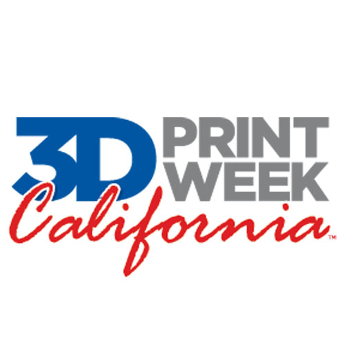 3D print week california logo inside 3D printing