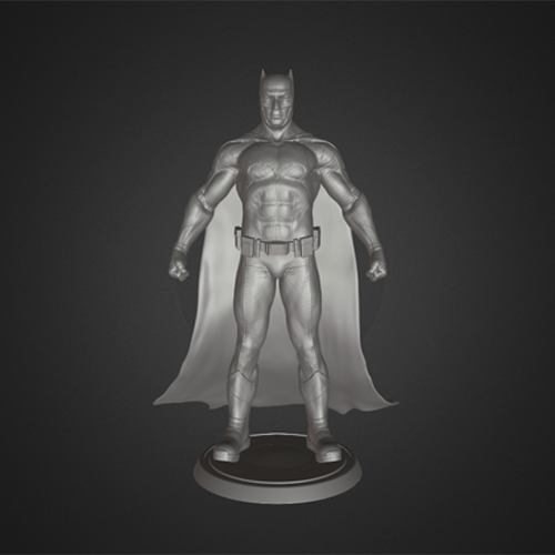 3D printable batman figure featufre